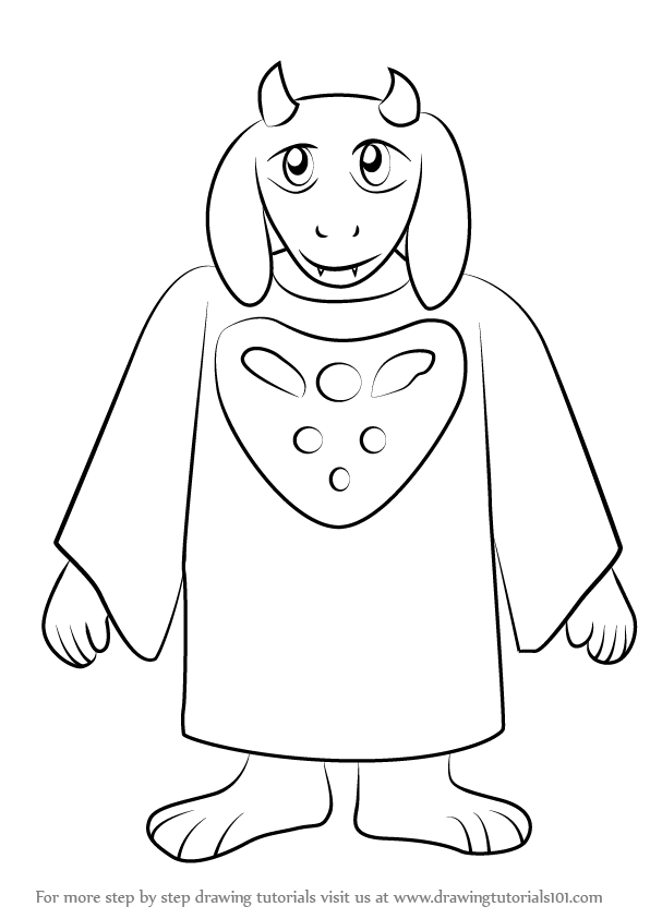 Learn How to Draw Toriel from Undertale Undertale Step