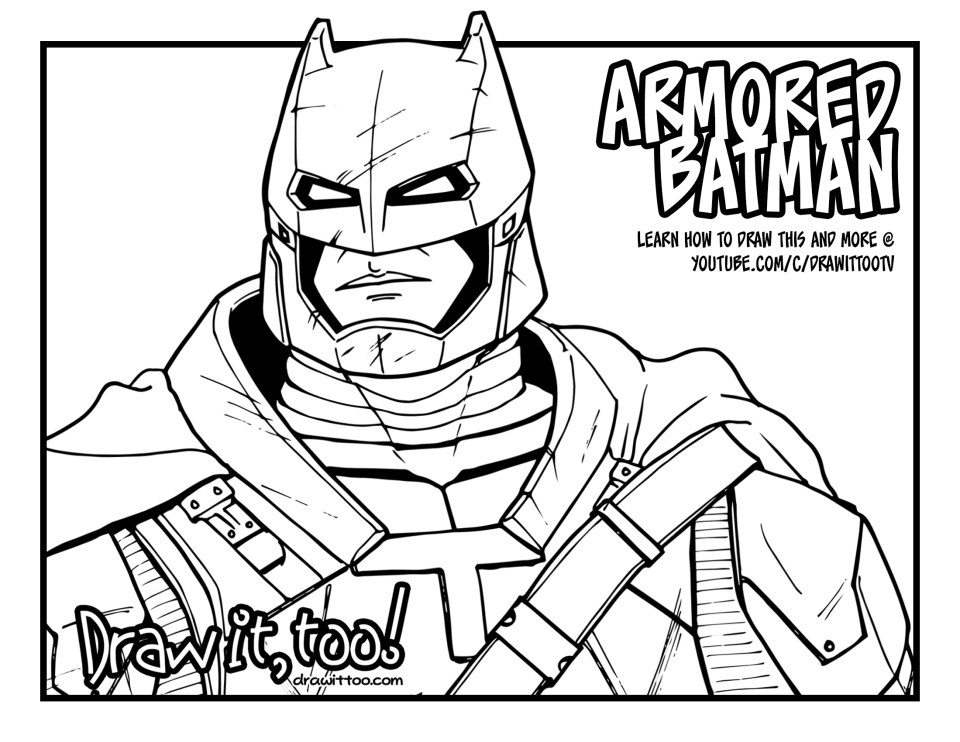 Deadshot Para Colorear: Armored Bat-Fleck!