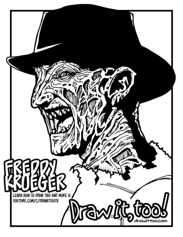 25+ new image Coloring Pages Freddy Krueger : Freddy Krueger