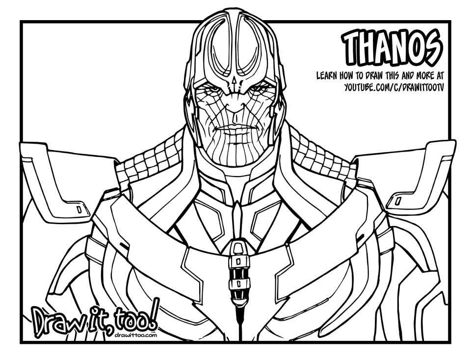 Thanos marvel cinematic universe draw it too Coloring book wiki
