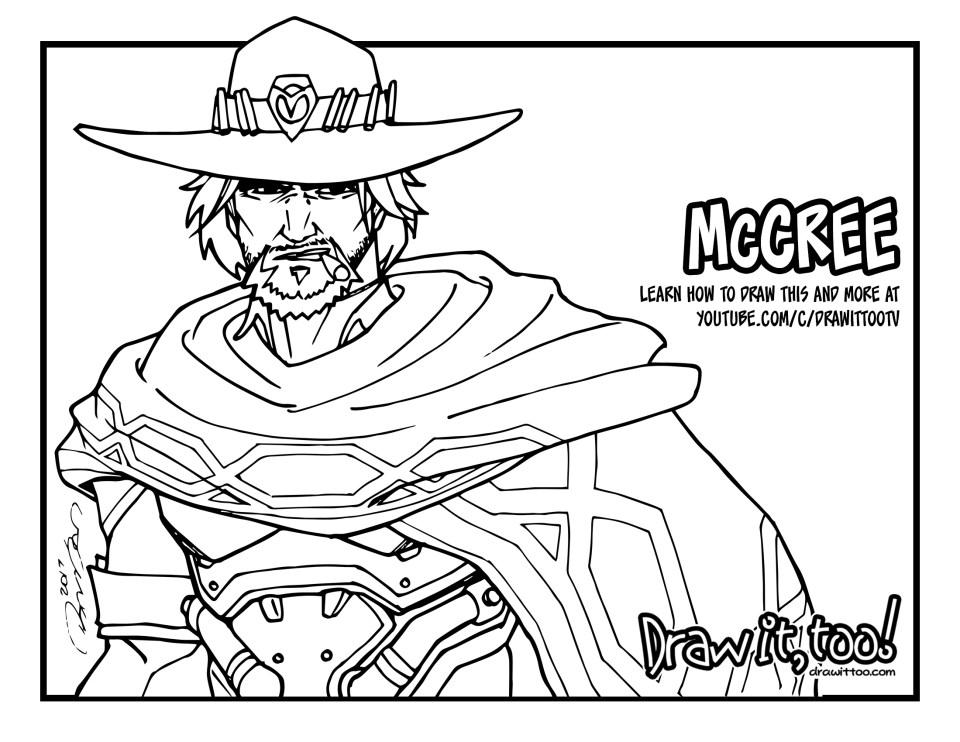 McCree (Overwatch) Tutorial | Draw it, Too!