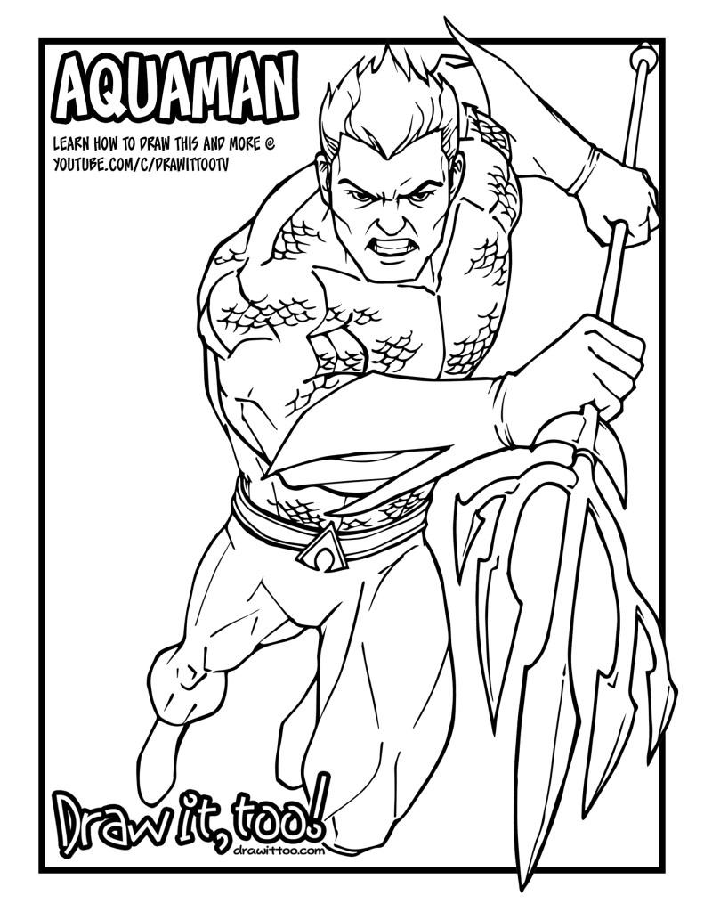 Aquaman Comic Version Tutorial Draw It Too Aquaman Coloring Pages