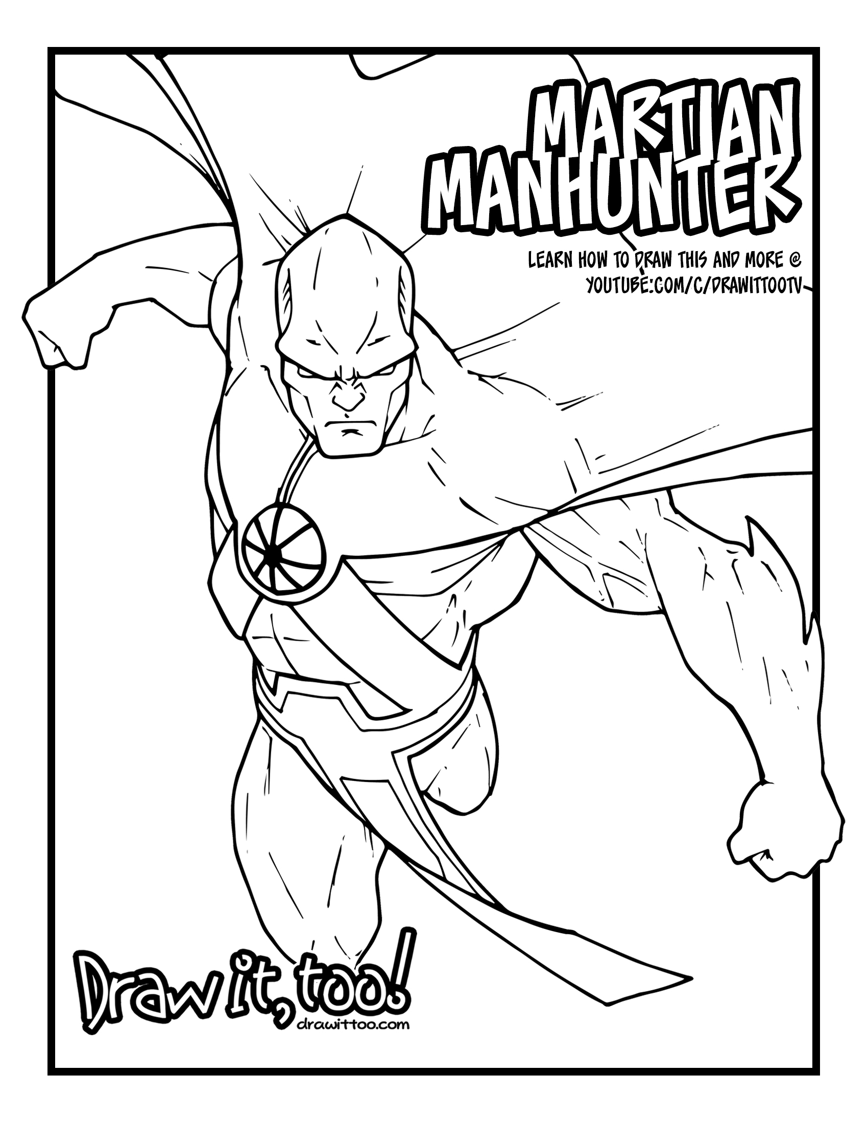Martian Manhunter Coloring Pages Related Keywords