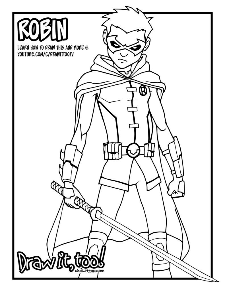 Damian Wayne Robin (Comic Version) Tutorial | Draw it, Too!