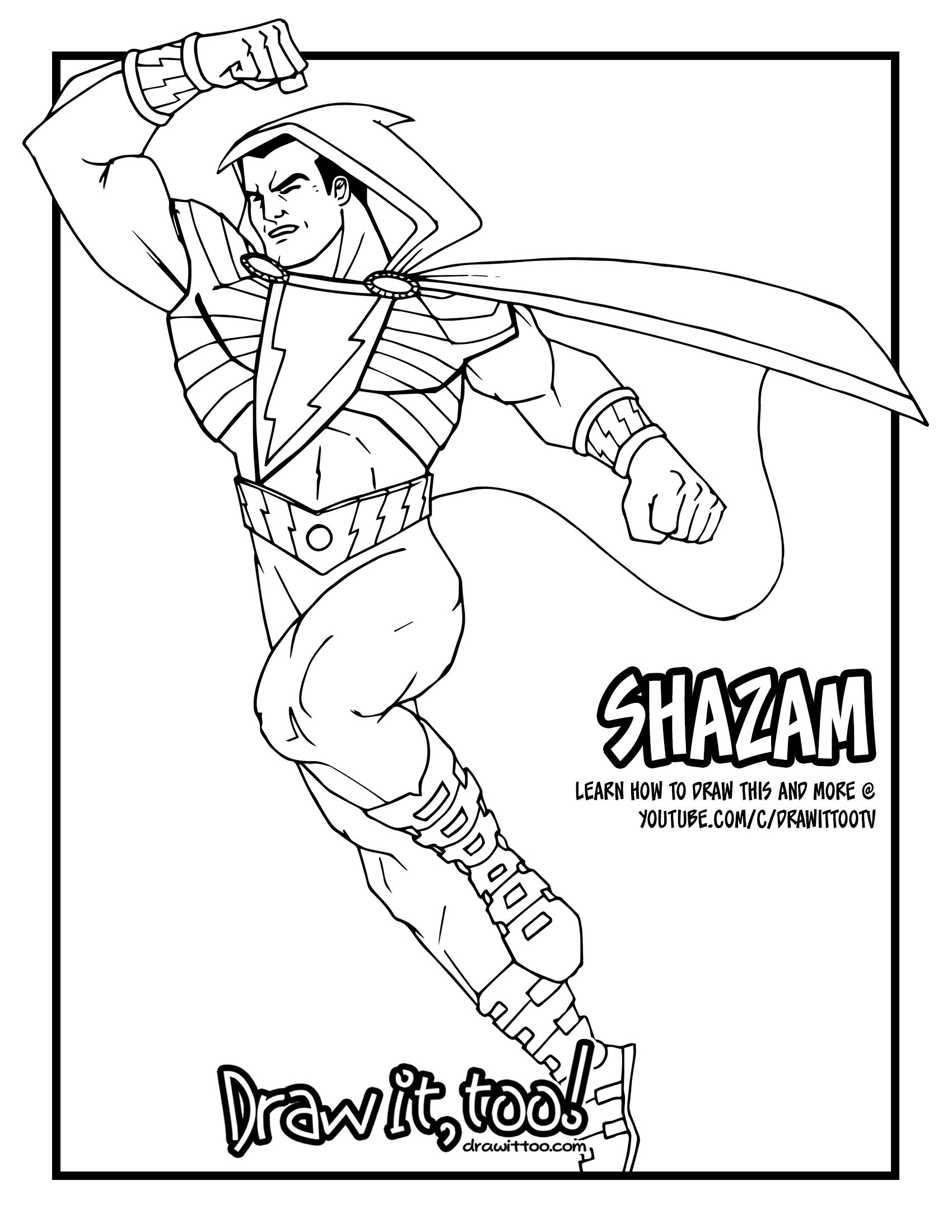 Shazam Coloring Pages | www.imgkid.com - The Image Kid Has It!