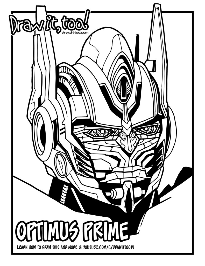 how to draw optimus prime (transformers movie franchise ... - Optimus Prime Face Coloring Pages