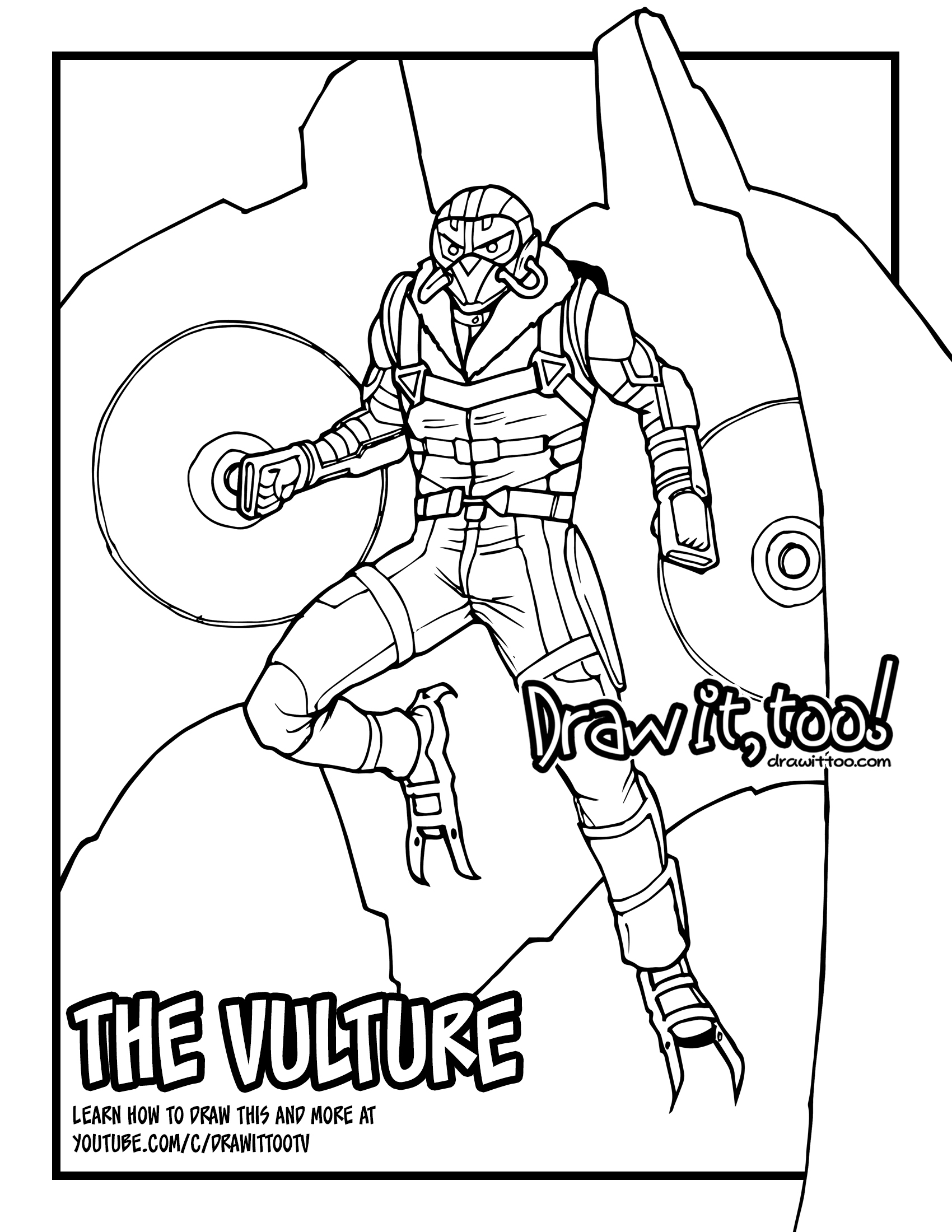 Uncategorized Vulture Coloring Page 93 ideas vulture coloring page on gerardduchemann com spider man homecoming pages