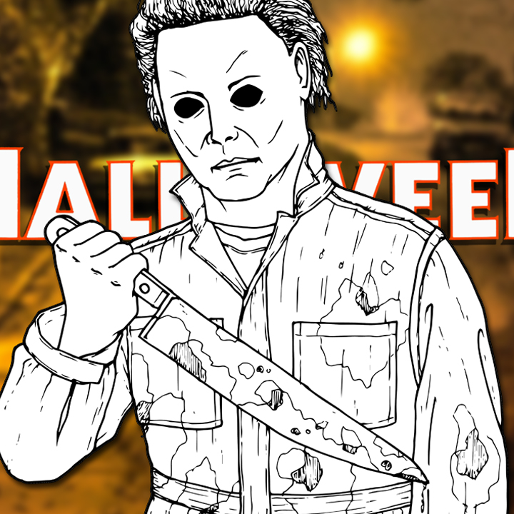 how to draw michael myers halloween drawing tutorial