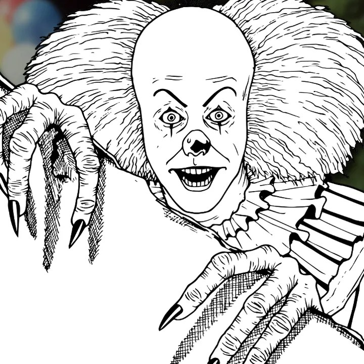 How to Draw PENNYWISE THE CLOWN (IT [1990] TV Mini-Series) Drawing Tutorial