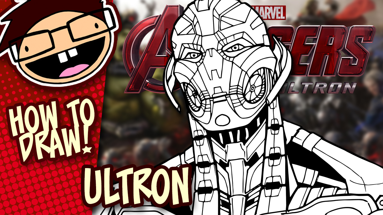 How to Draw ULTRON (Avengers: Age of Ultron) Drawing Tutorial