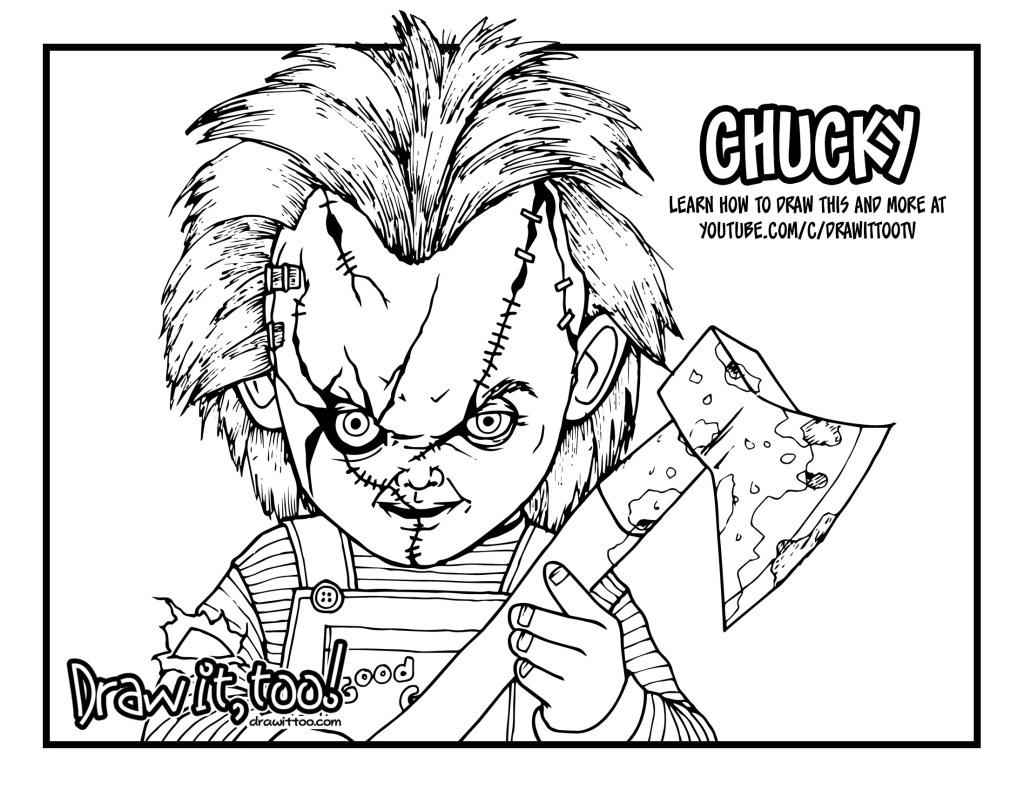 Chucky doll drawing