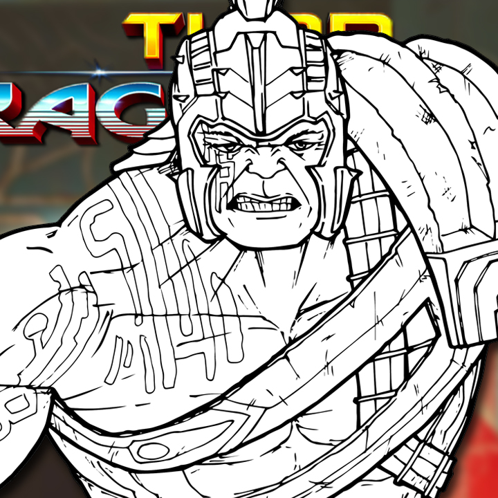 How to Draw GLADIATOR HULK (Thor: Ragnarok) Drawing Tutorial