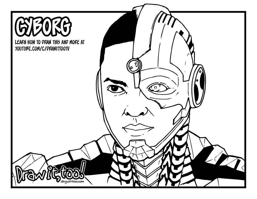 How to Draw CYBORG (Justice League) Drawing Tutorial | Draw it, Too!