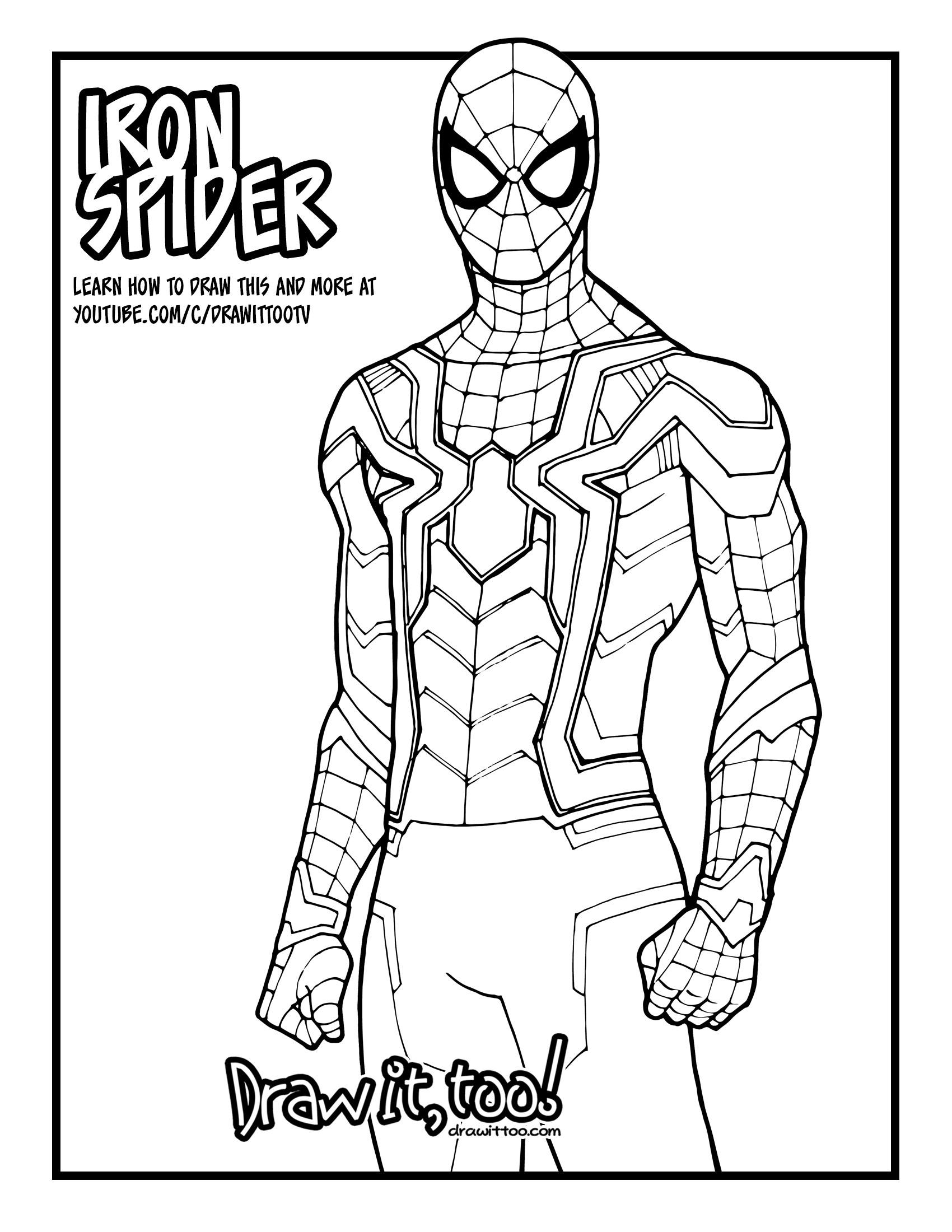 How to Draw IRON SPIDER (Avengers: Infinity War) Drawing
