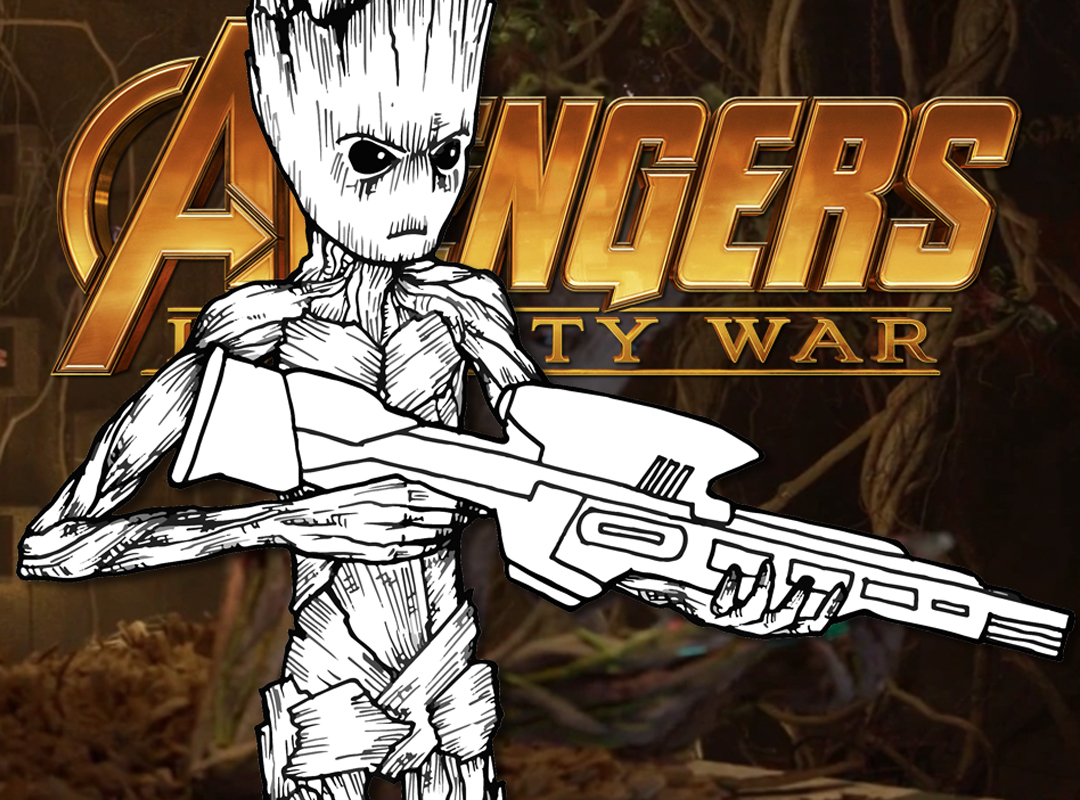 How To Draw Teenage Groot Avengers Infinity War Drawing Tutorial
