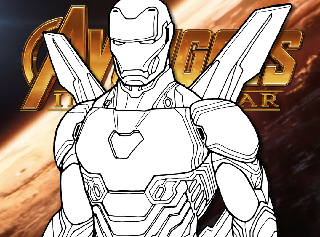 How To Draw IRON MAN (Avengers Infinity War) Drawing Tutorial | Draw It Too!