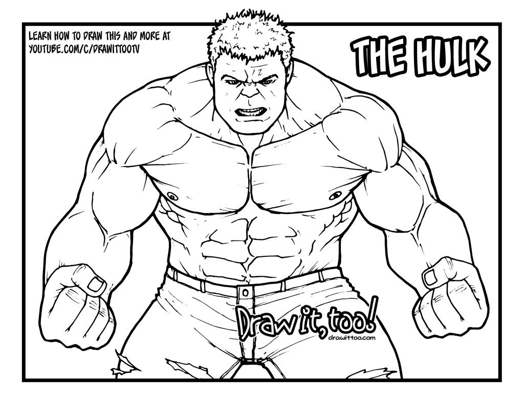 How To Draw The Hulk Avengers Infinity War Drawing