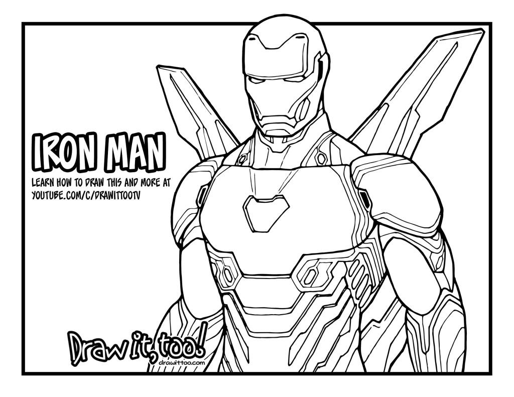 (Royalty Free) Iron Man Maske Boyama
