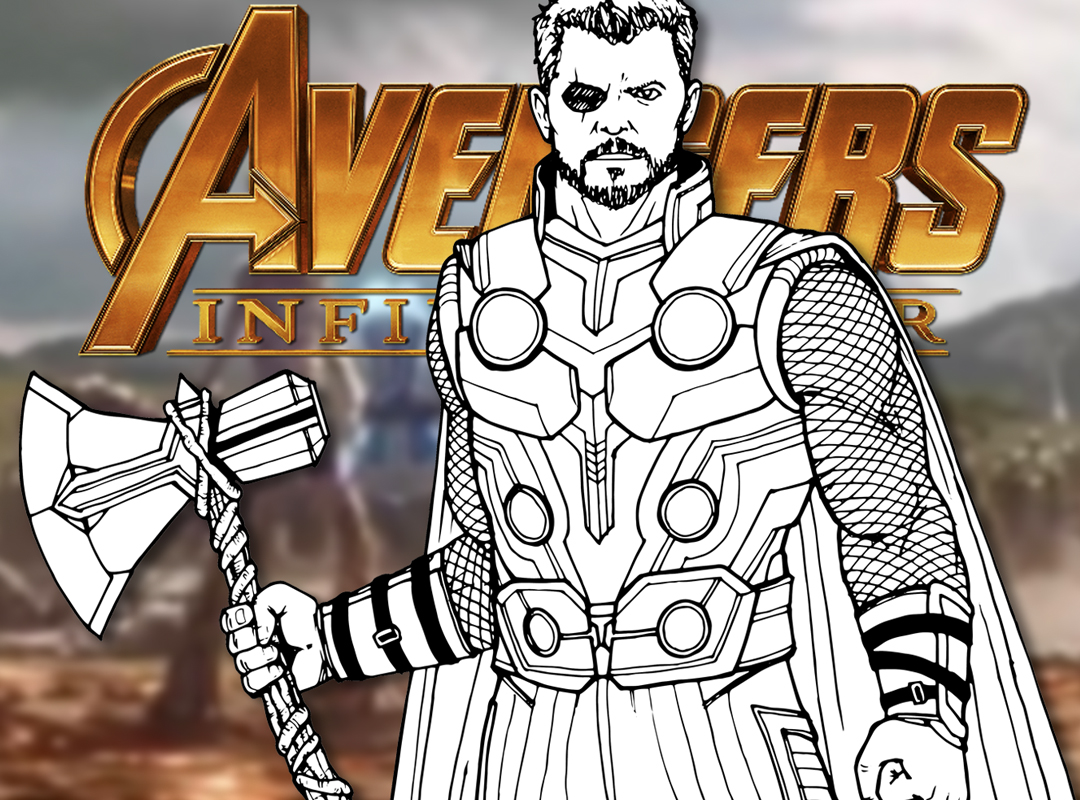 How to Draw THOR (Avengers: Infinity War) Drawing Tutorial ...
