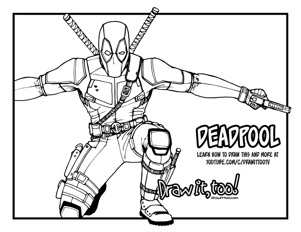 how to draw deadpool  deadpool 2  drawing tutorial