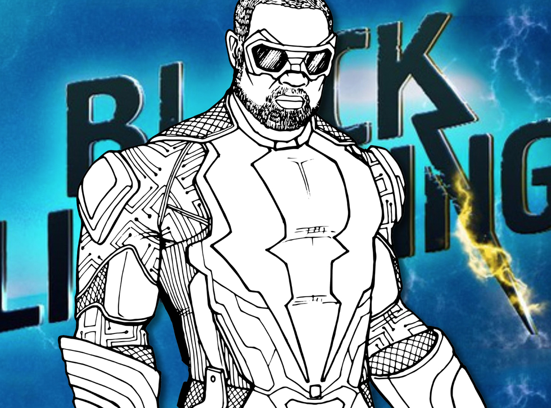 How To Draw Black Lightning Cw Tv Series Drawing