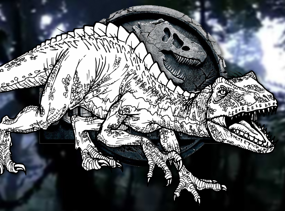 how to draw the indoraptor jurassic world fallen kingdom drawing tutorial draw it too how to draw the indoraptor jurassic