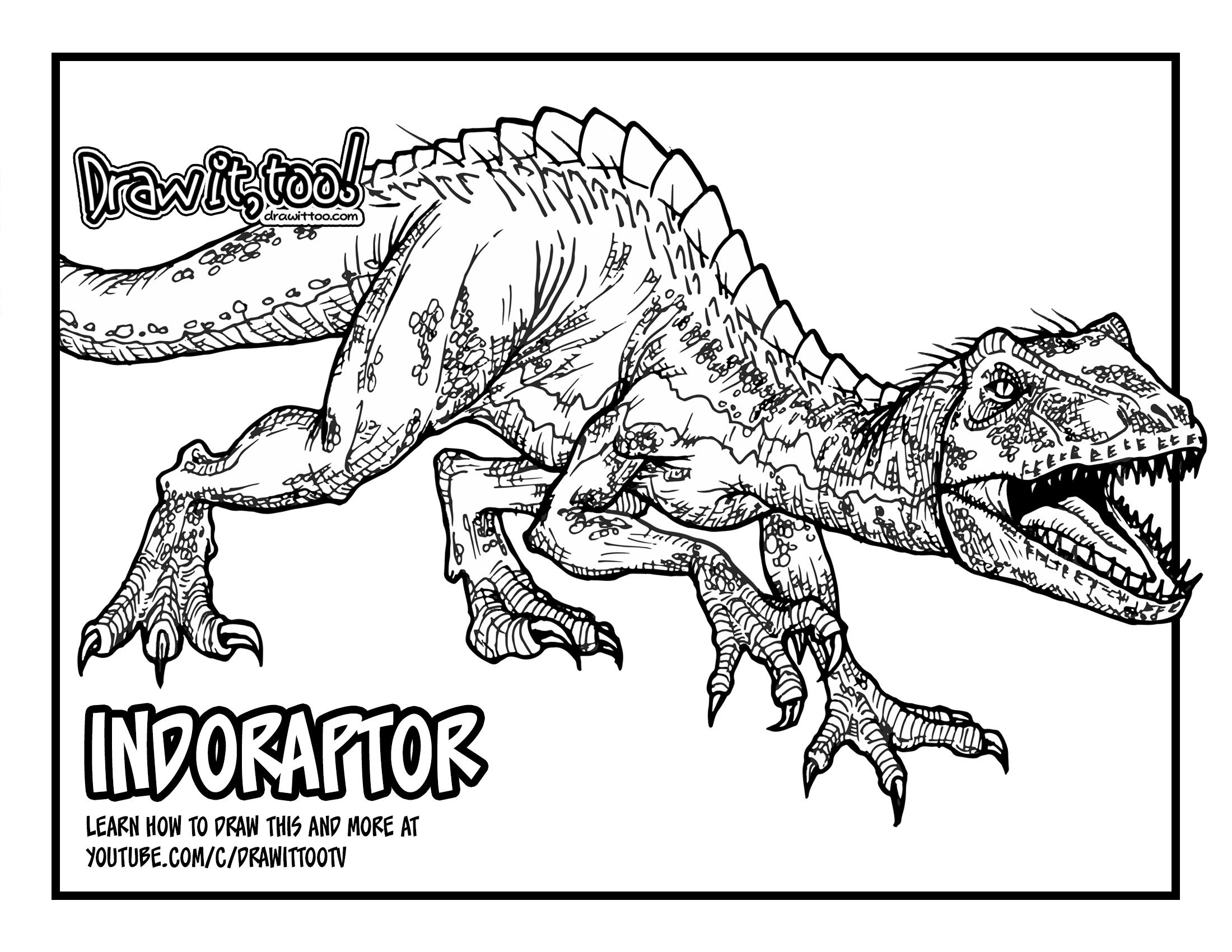 Jurassic World Drawing Www Topsimages Com