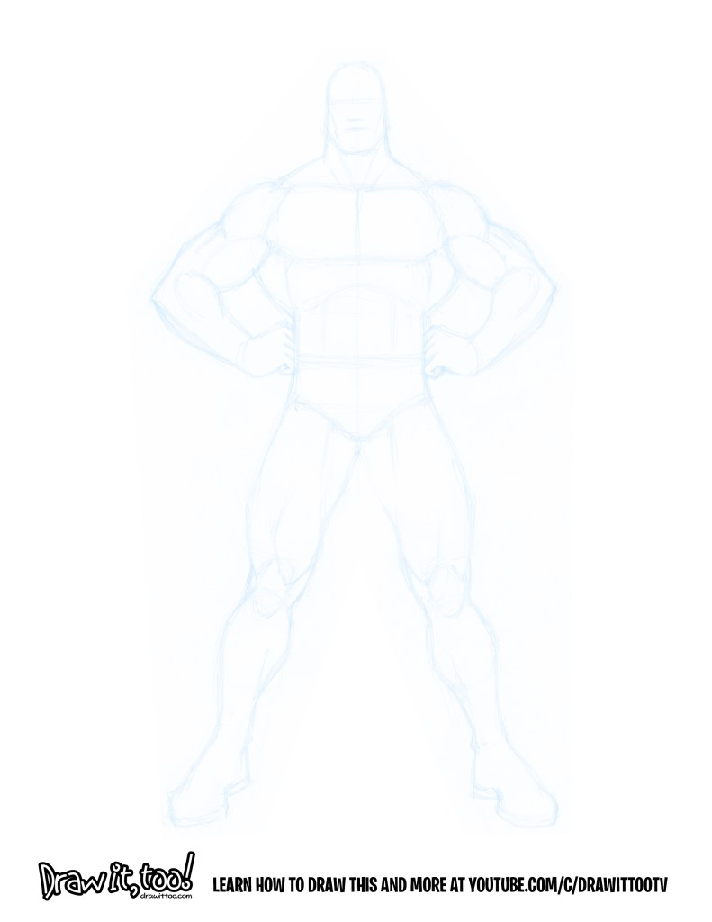 How To Draw The Classic Superhero Pose Draw It Too
