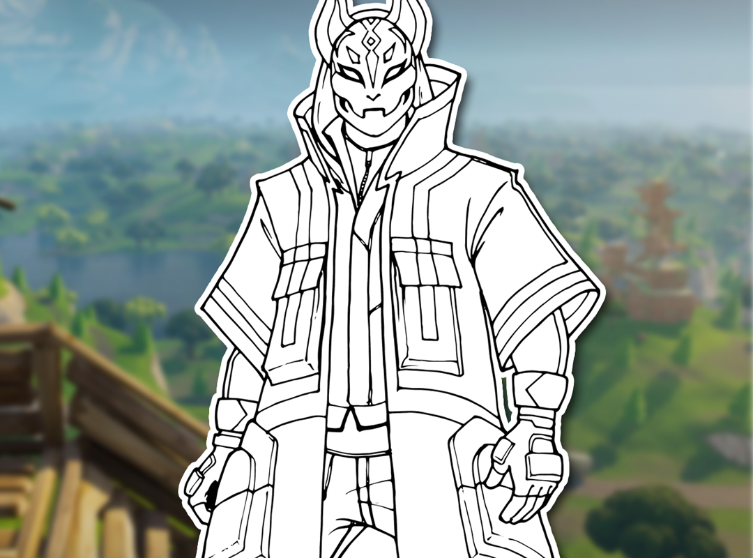 Fortnite Coloring Pages Drift - Free V Bucks Generator No ...