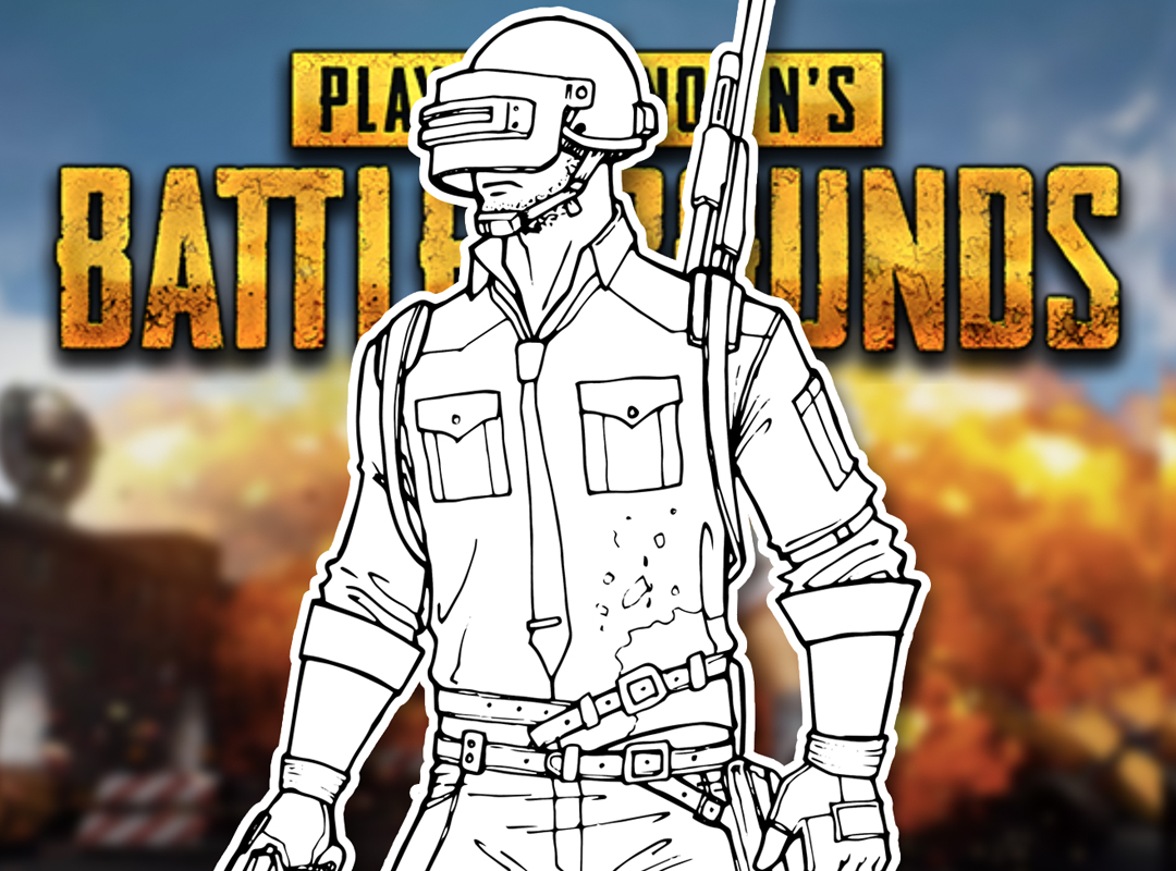 How to Draw the PUBG Cover Character (PlayerUnknown's Battlegrounds