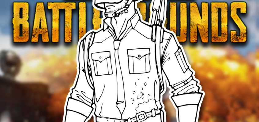 pubg drawing step by step