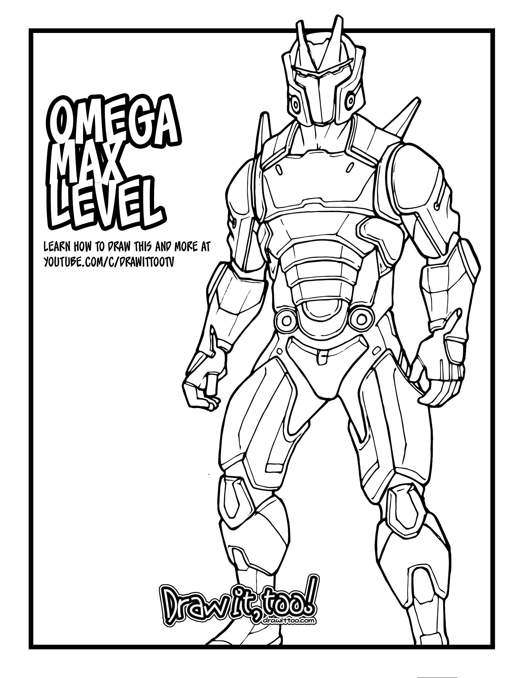 Fortnite Coloriage Omega Free