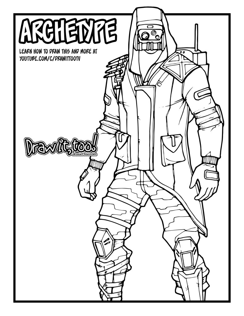 How To Draw Archetype Fortnite Battle Royale Drawing