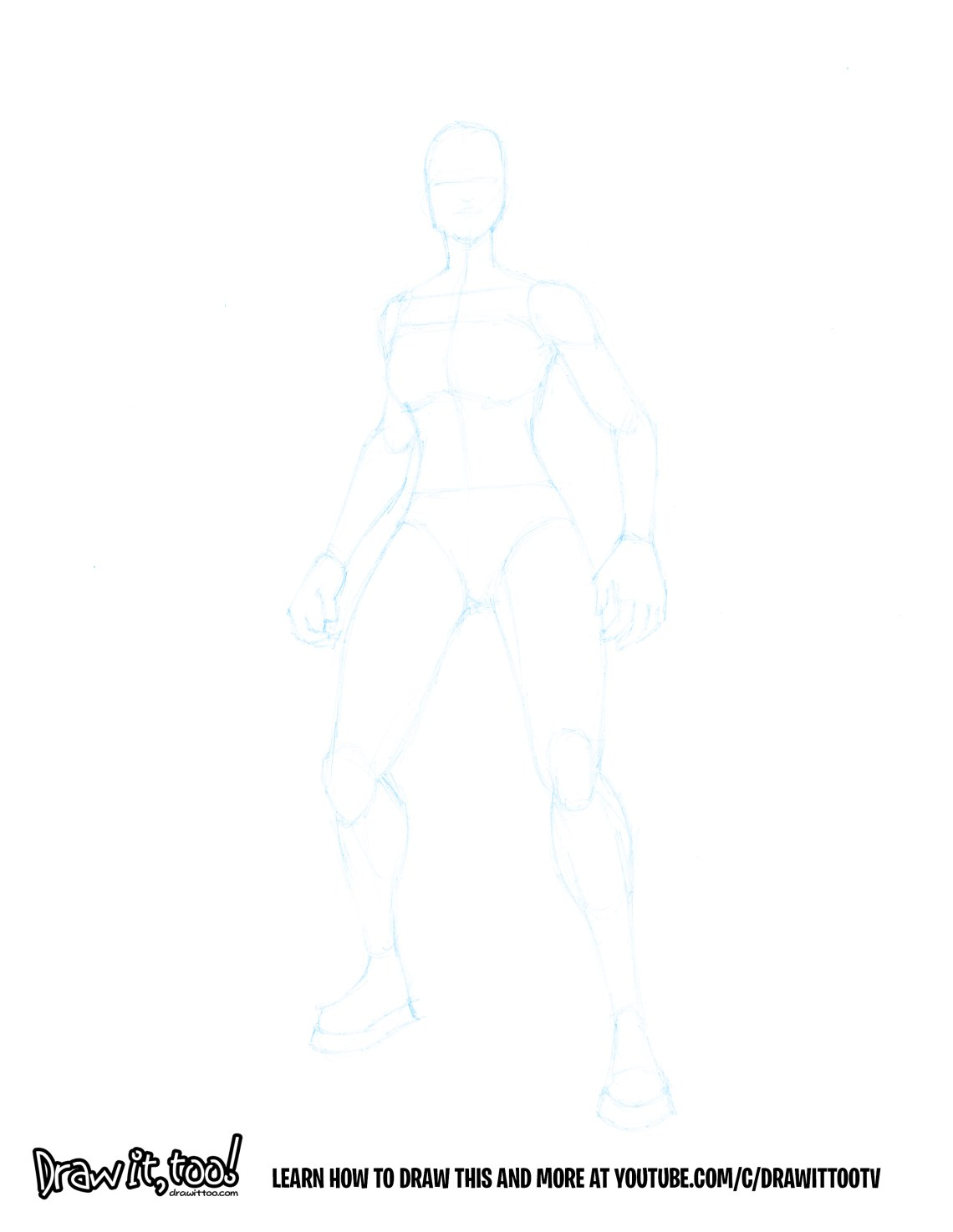 How To Draw A Female Standing Pose Version 2 Draw It Too