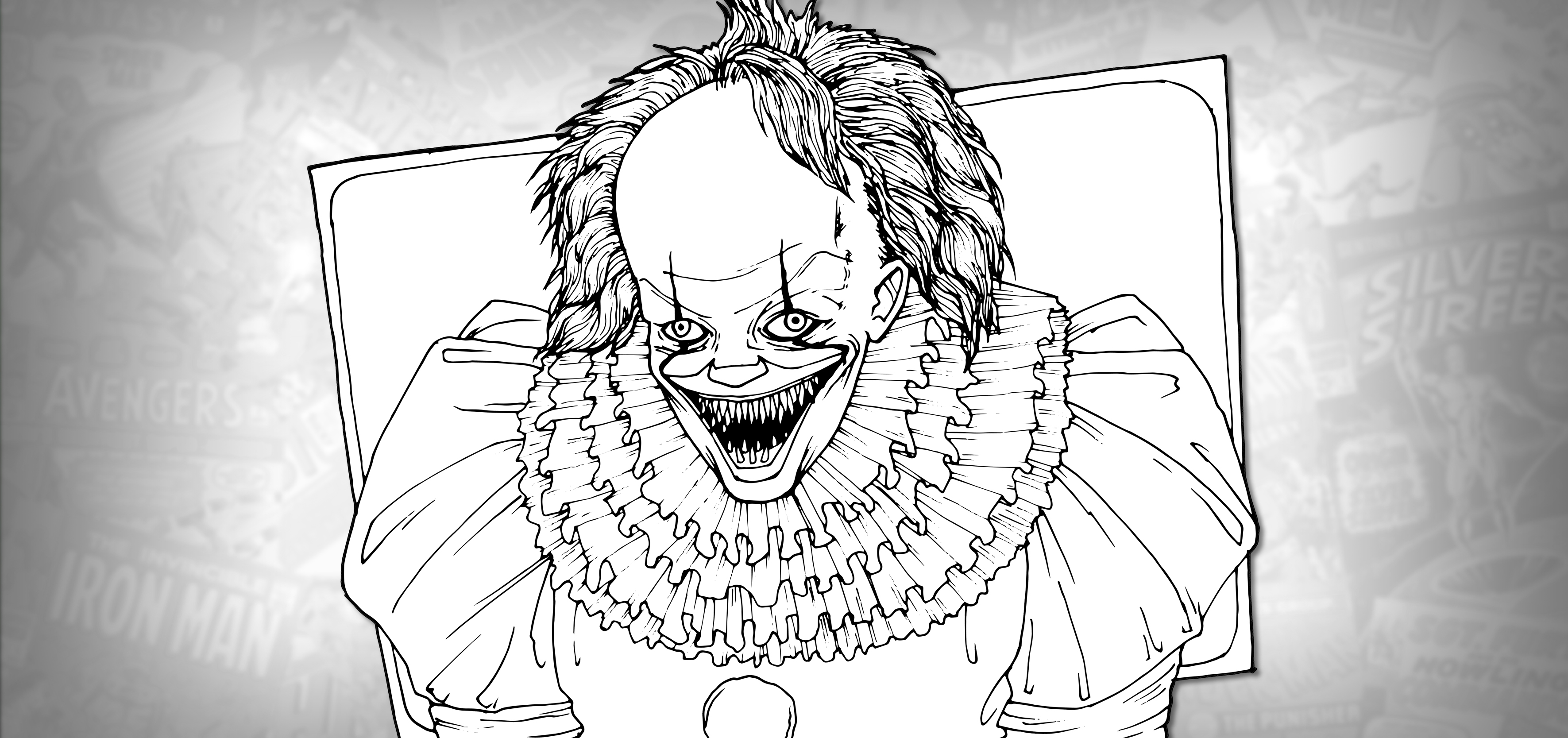How To Draw Pennywise With Teeth It Drawing Tutorial Draw It Too