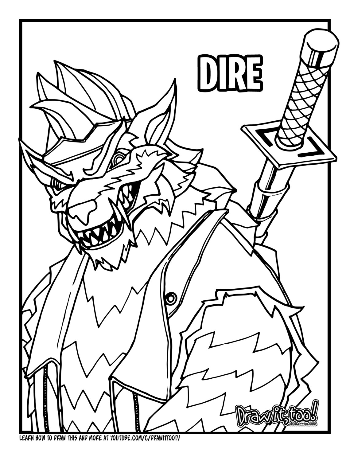 It is an image of Sly Fornite Coloring Pages