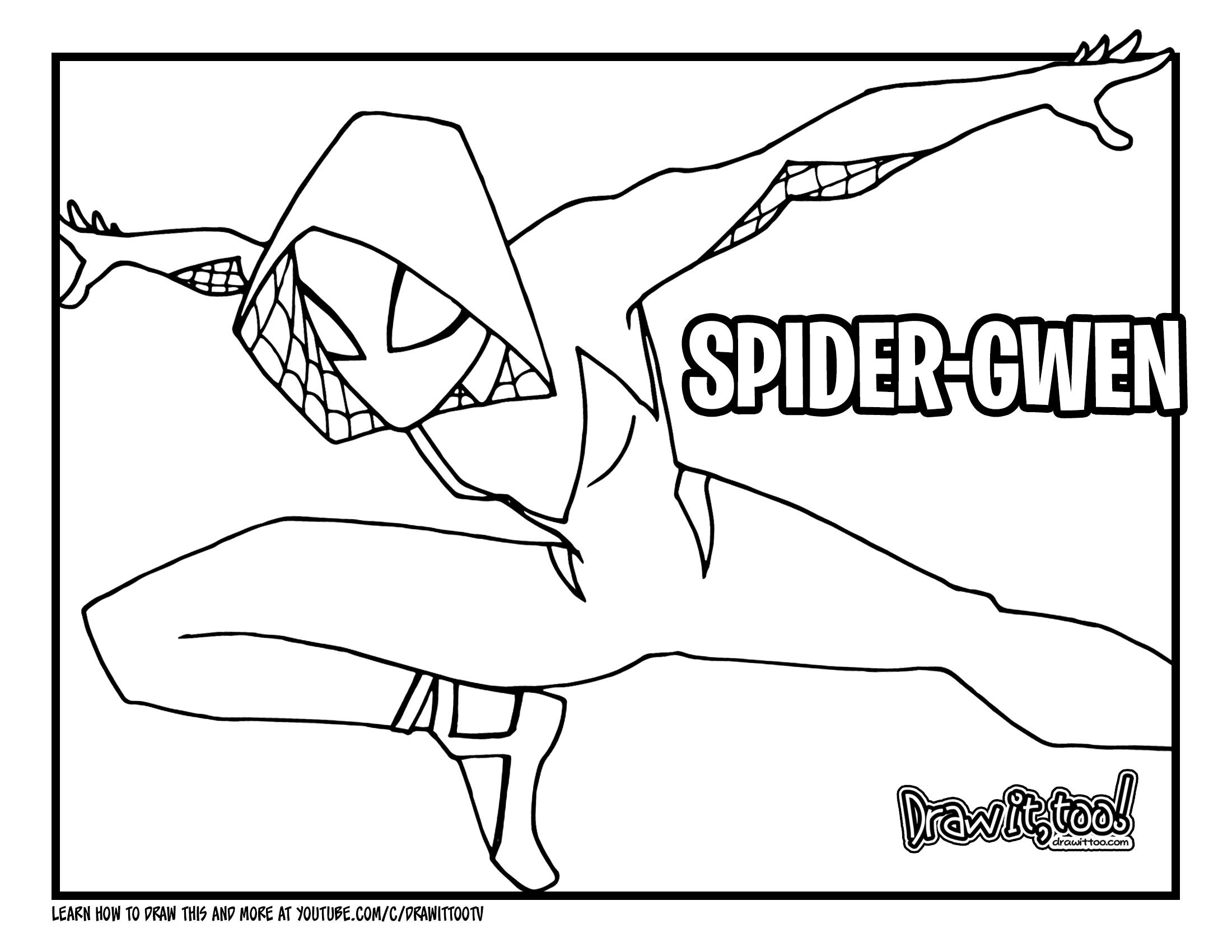 How to Draw SPIDER-GWEN (Spider-Man: Into the Spider-Verse