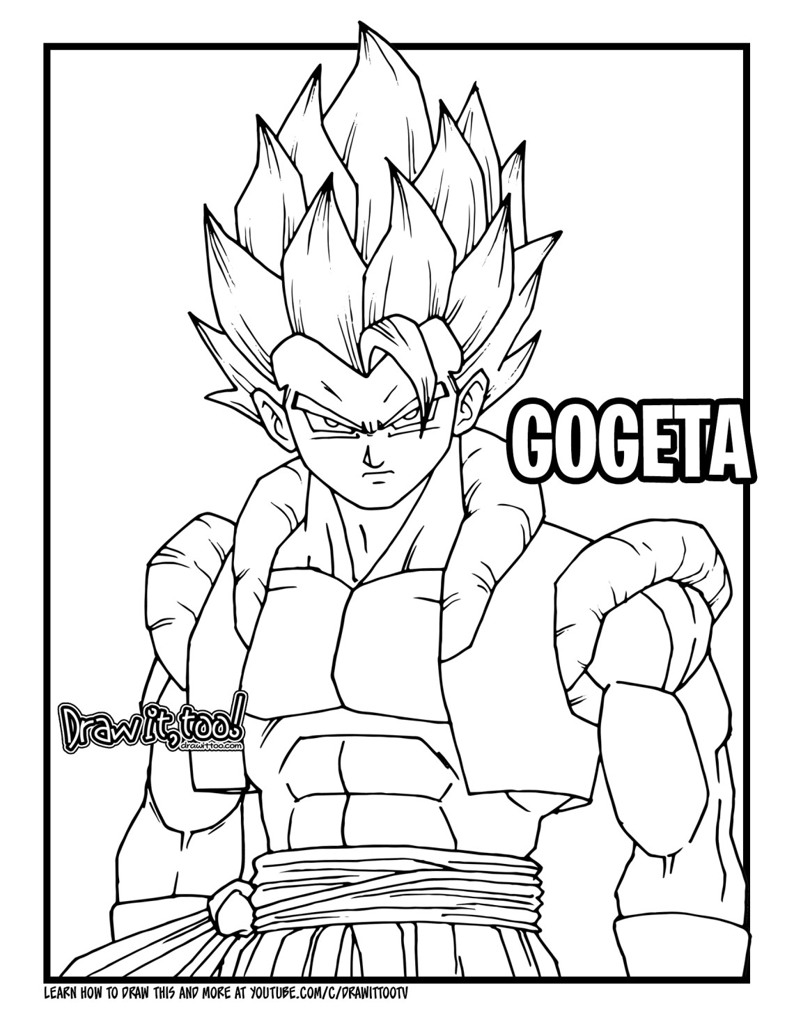 How To Draw Gogeta Dragon Ball Super Broly Drawing