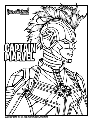 marvel captain coloring draw pages drawing too tutorial drawittoo face marvels popular