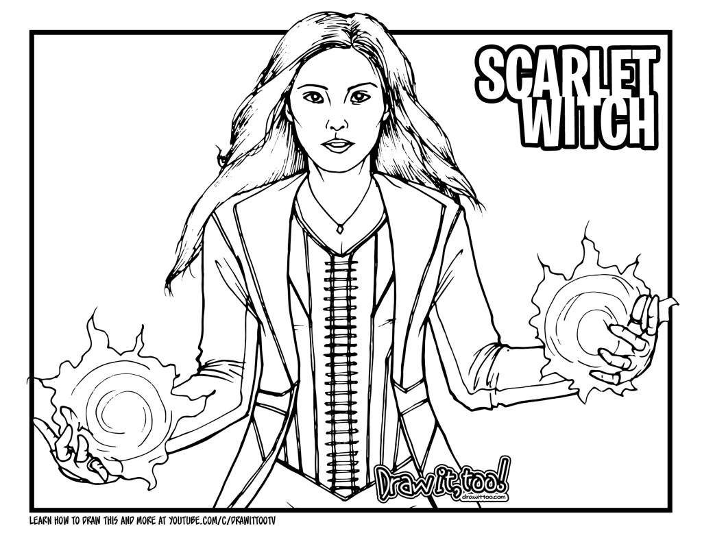 How to Draw SCARLET WITCH (Marvel Cinematic Universe ...