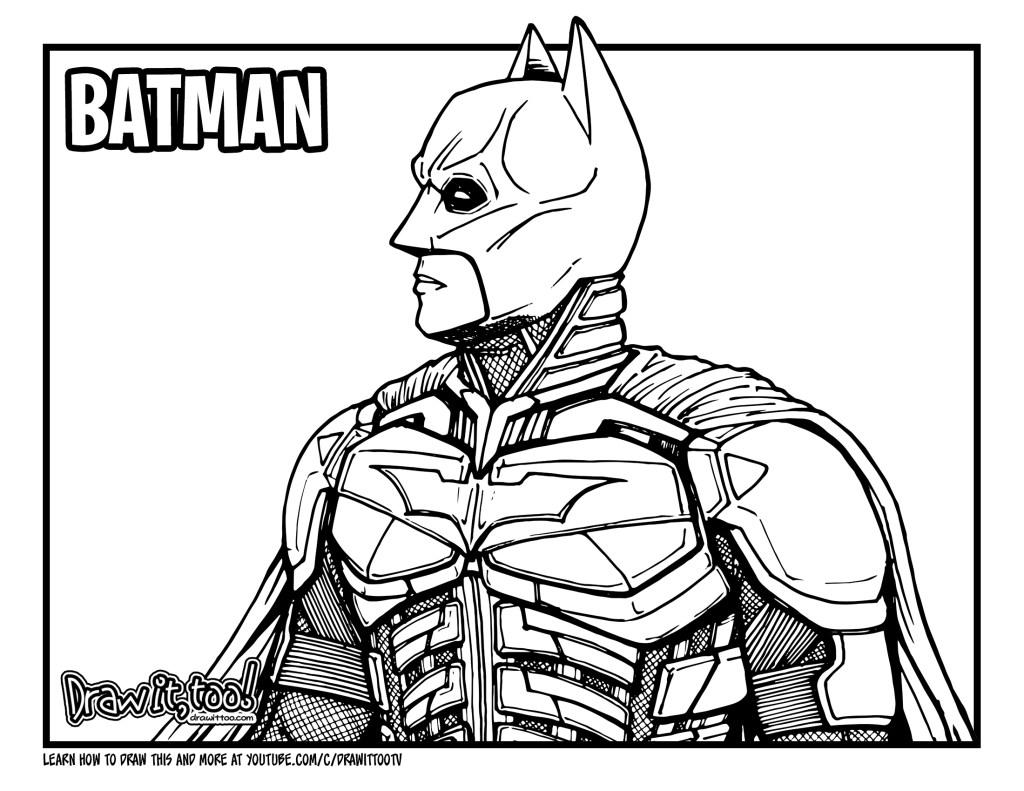 How To Draw Batman The Dark Knight Drawing Tutorial Draw It Too