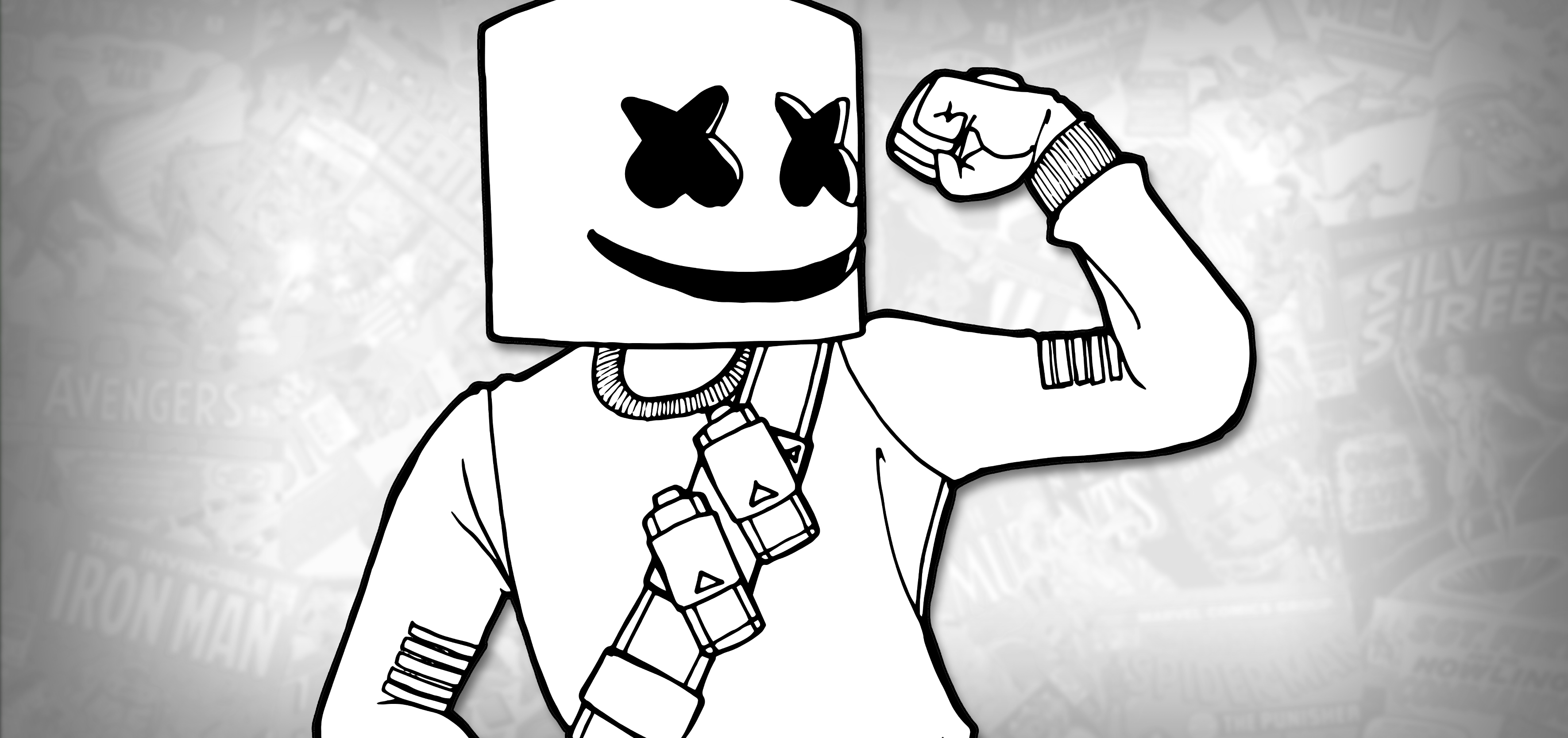 How To Draw Marshmello Fortnite Battle Royale Drawing