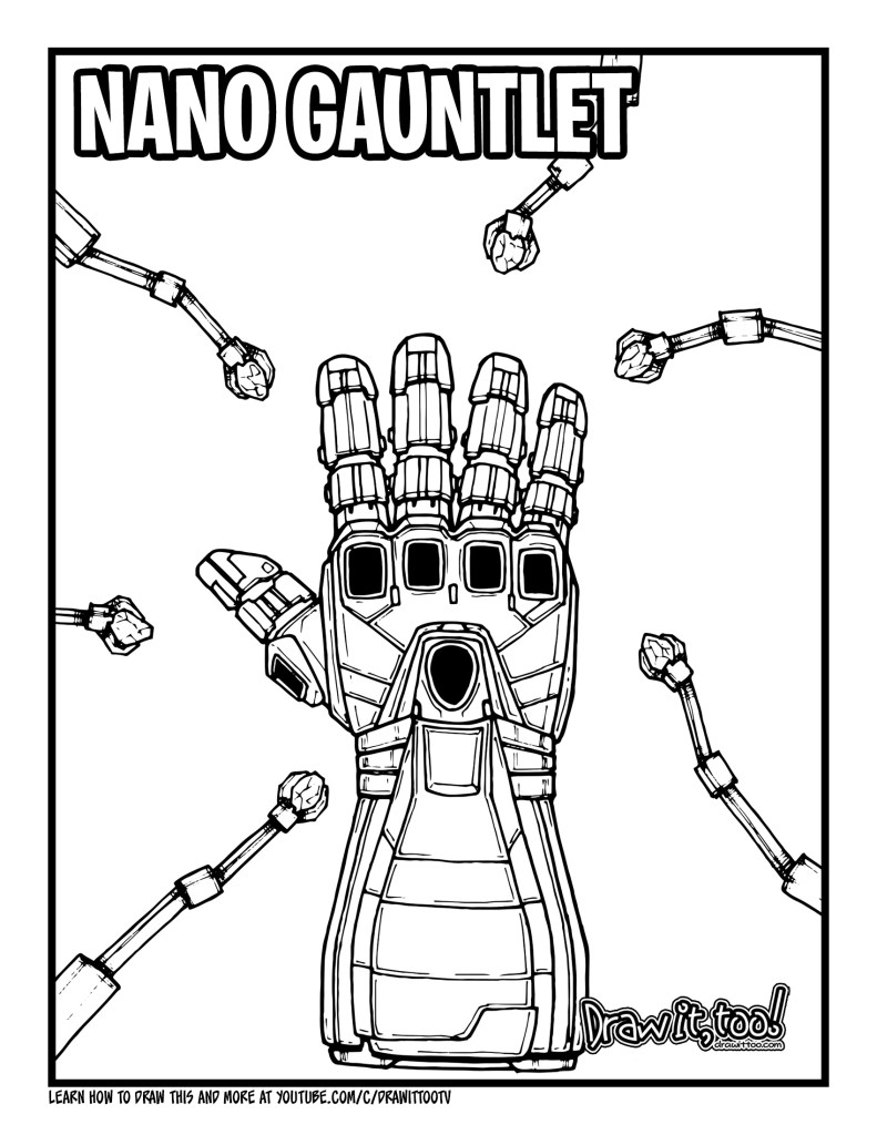 How to Draw the NANO GAUNTLET (Avengers: Endgame) Drawing ...