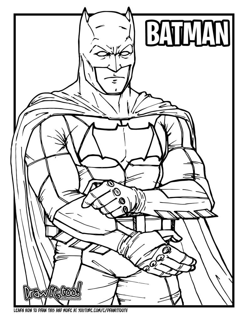 How to Draw BATMAN (Batman v Superman: Dawn of Justice ...