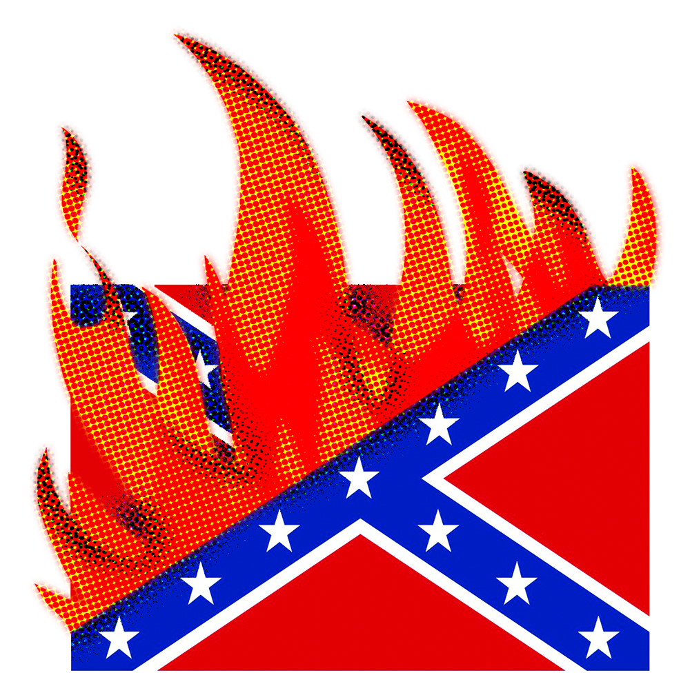 © Mark Kaufman Confederate Flag Burning100x