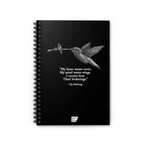 'Hummingbird' Spiral Notebook – Ruled (black)
