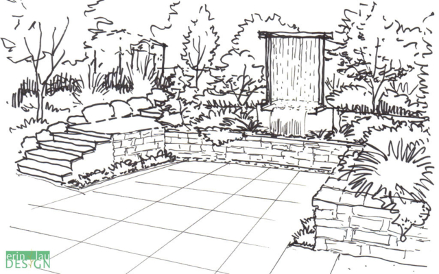Garden Creation: How to draw a Perspective Sketch