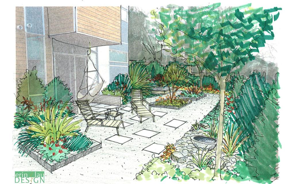 landscape design drawing