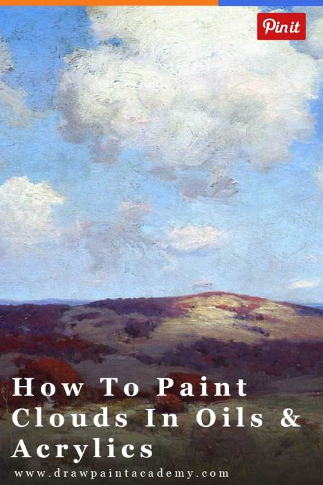 Landscape painting tips learn how to paint clouds for Learn to paint with oils for free