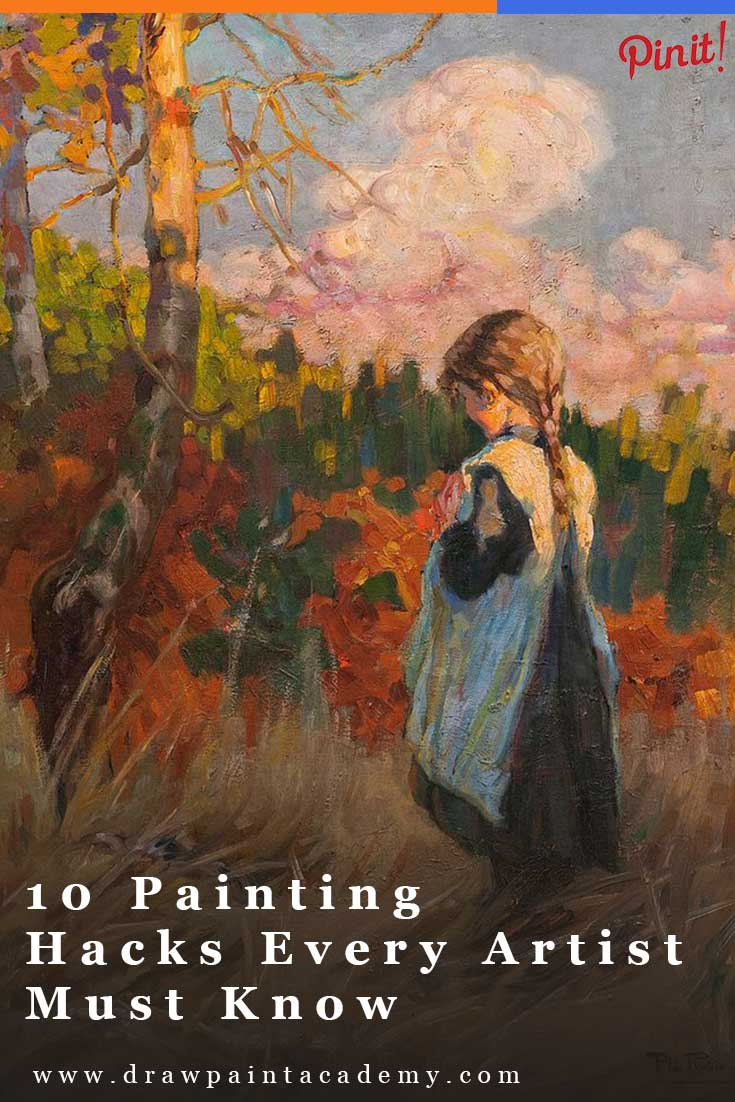 10 Painting Hacks Every Artist Should Know. These are perfect for beginner artists looking for some tips to get them started. If you have any painting hacks of your own, please share them in the comments.